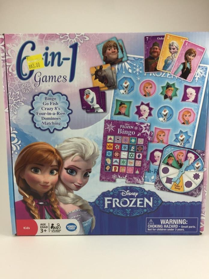 BRAND NEW NEVER OPENED DISNEY FROZEN 6-IN-1 GAMES 3+ AGES BINGO GO FISH MATCHING