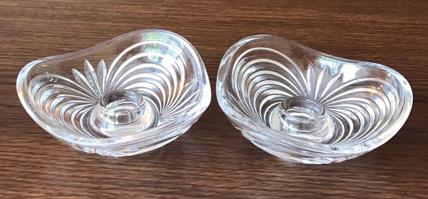 German Crystal Votive Candle Sticks CandleHolder Traditional Set of 2