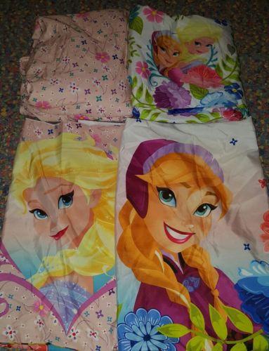 Disney Frozen Pink Full Size Sheet Set Summer Flowers  Soft Microfiber #1770