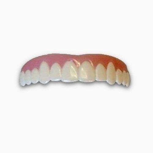 Imako Cosmetic Teeth 1 Pack. (Large, Natural) Uppers Only- Arrives Flat. Fit at