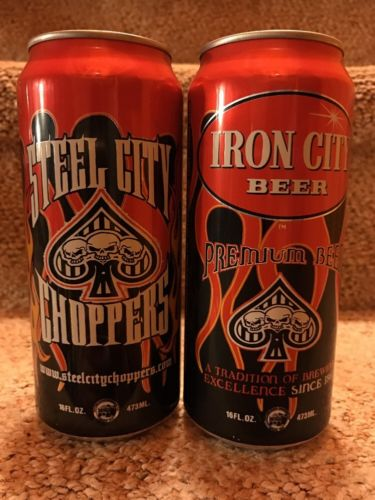Iron City Steel City Choppers 16 oz Beer Can *Awesome Can*