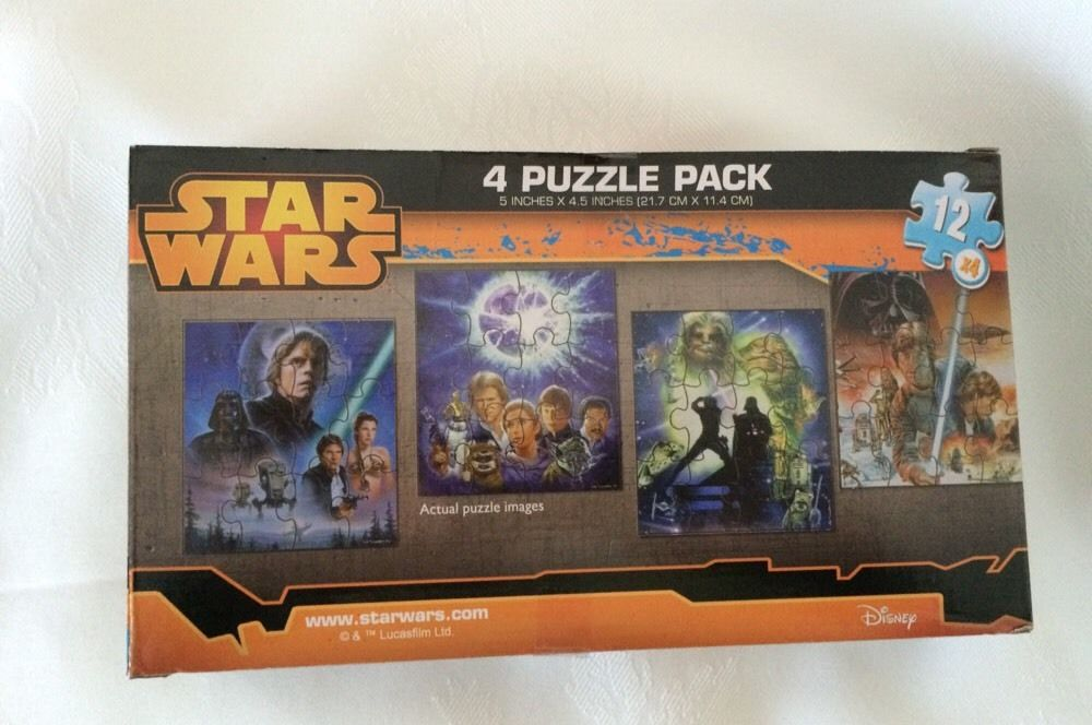 STAR WARS JIGSAW PUZZLE PACKS: 4 IN EACH PACK, 12 PC Each