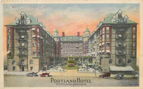 1915 PORTLAND, OREGON Portland Hotel automobiles 8574 postcard