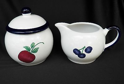 PRINCESS HOUSE ORCHARD MEDLEY SUGAR BOWL & CREAMER