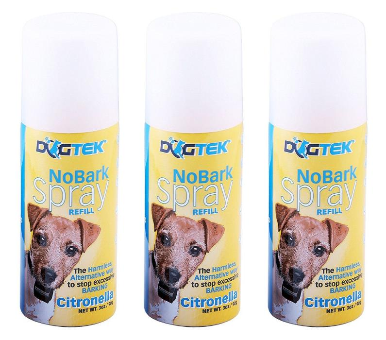 DOGTEK NoBark Spray Citronella Can Refills (Pack of 3) -Works with PetSafe Spray