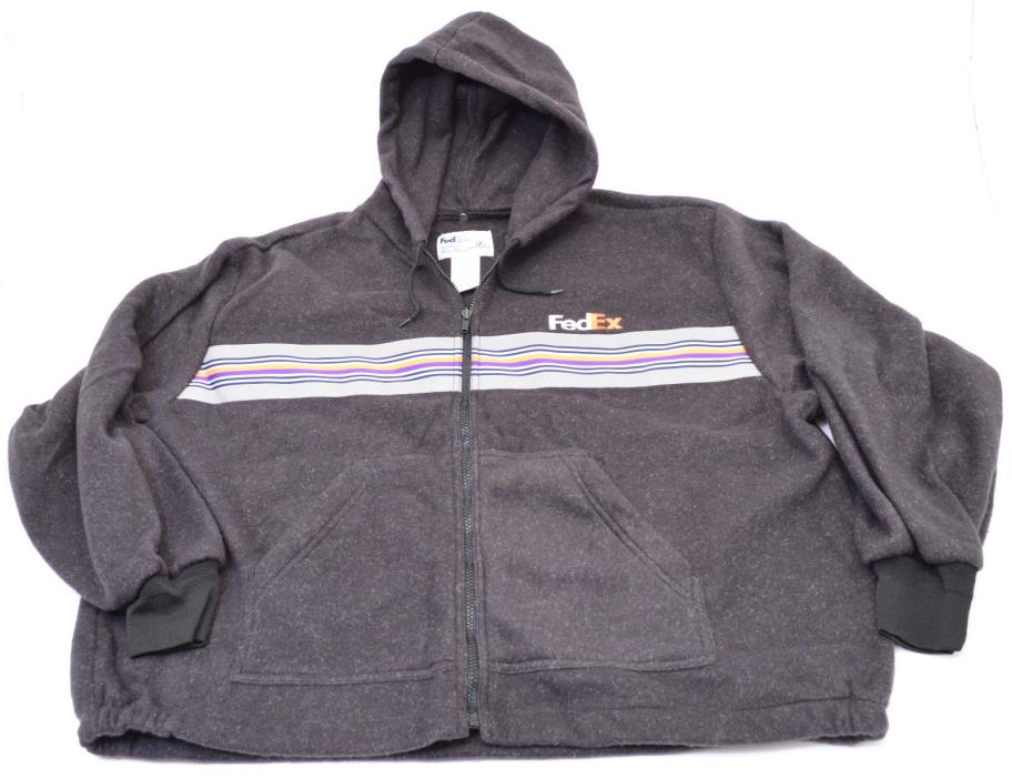 FedEx Uniform Hoodie Jacket With Reflective Stripe by Stan Herman XXL Excellent