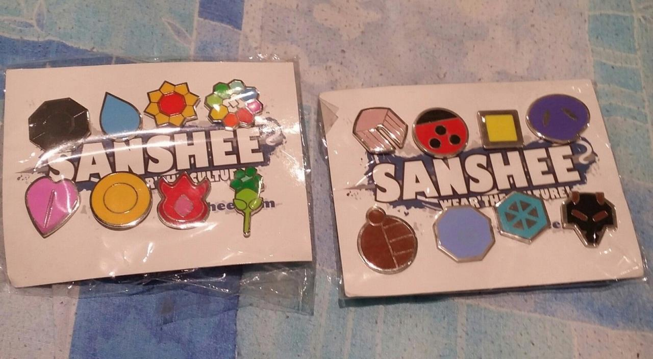 Sanshee Pokemon Gen 1 and Gen 2 Kanto and Johto Badges