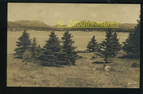 Rppc Mt Desert Frm Sutton Island Me Maine Sailboat Big Homes Hancock County 1917