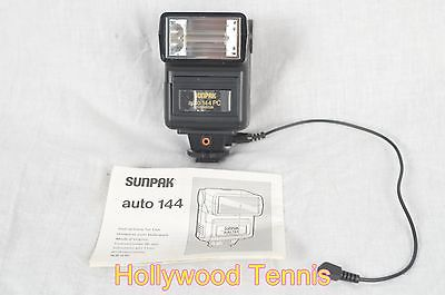 Sunpak Auto 144 PC Shoe Mount Flash Thyristor w/ PC Cord & Manual -ExcellentCOND