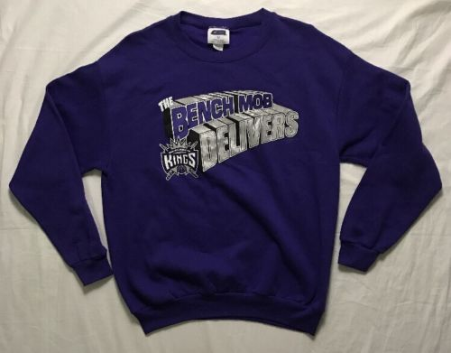 Vintage Sacramento Kings The Bench Mob Crewneck Sweatshirt Sweater Size Large