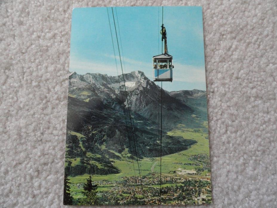 A view of Garmisch-Partenkirchen, Germany    Postcard