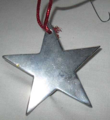 VINTAGE WILTON PEWTER METAL 1974 STAR CHRISTMAS ORNAMENT