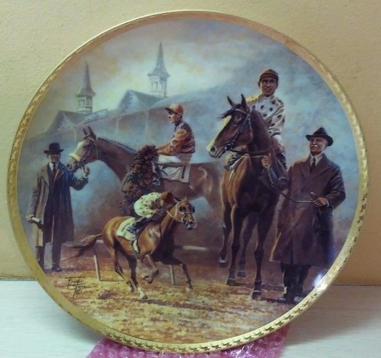 AMERICAN TRIPLE CROWN Plate 1919-1935 Sir Barton Omaha Gallant Fox by FRED STONE