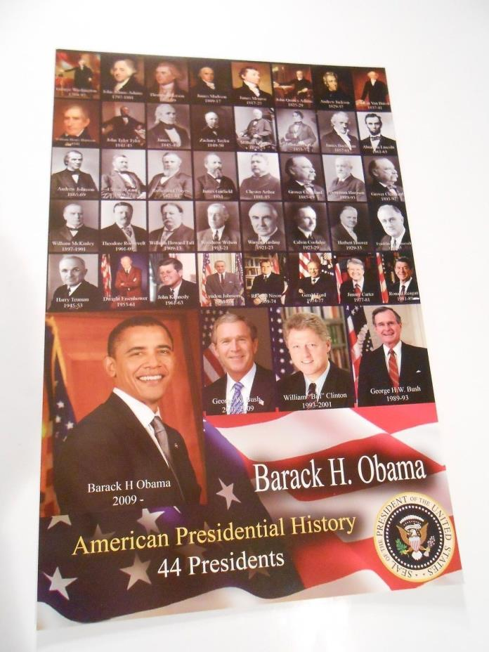 PRESIDENT BARACK OBAMA & HISTORICAL 43 PRESIDENTS OF THE UNITED STATES 17