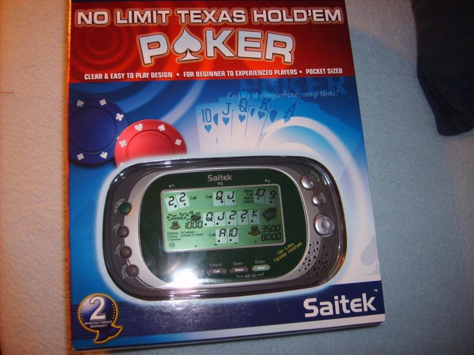 Saitek No Limit Texas Holdem Handheld Poker Video Game