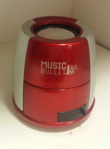 MUSIC BULLET - AS SEEN ON TV - USED- RED
