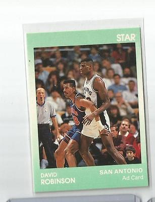 Star Company Co David Robinson GREEN AD Promo Print Run ??? San Antonio Spurs