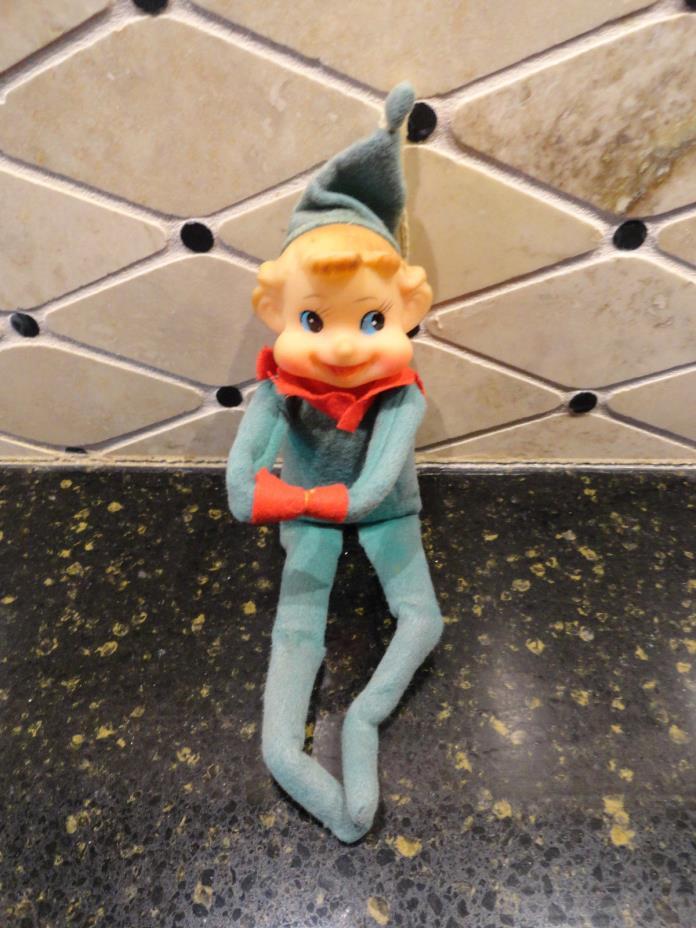 Vintage Medium Pixie Elf Knee Hugger Green Christmas Ornament