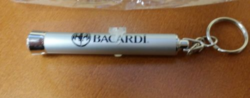 Bacardi Rum Alcohol Bat Light Promotional Keychain, New Original Plastic Package