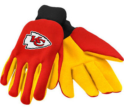 Kansas City Chiefs: Utility Work Gloves  Official NFL Item.  New