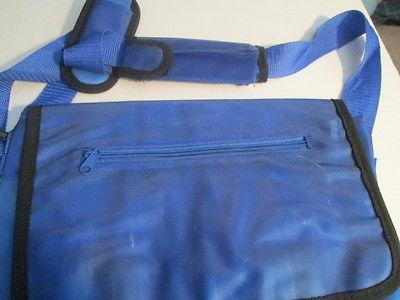 Blue plastic shoulder bag 14
