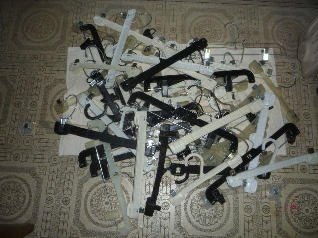 various bulk lot white black skirts pants shirts clothes hangers