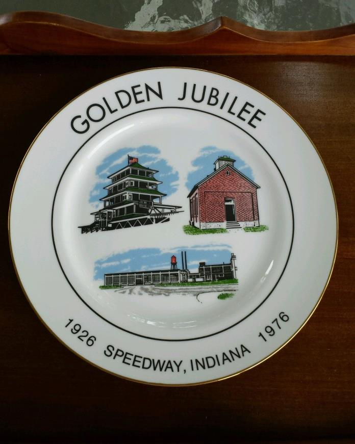 Golden Jubilee Speedway Indiana Collector Plate 1926-1976