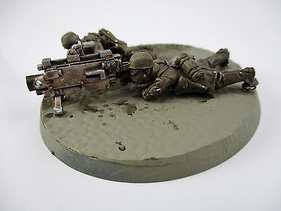 Warhammer 40k Imperial Guard Steel Legion Heavy Bolter Team
