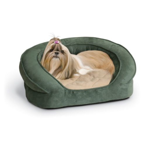 K&H Deluxe Ortho Bolster Sleeper Pet Dog Bed Large Green 40