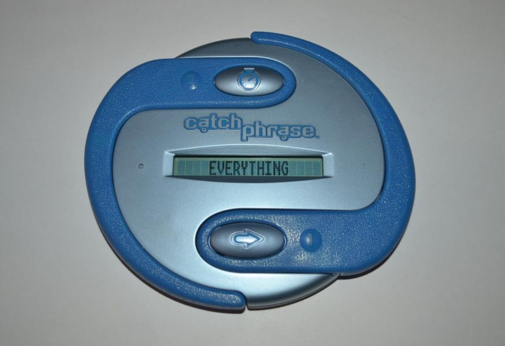 Hasbro CATCH PHRASE Original Electronic Handheld Team Game