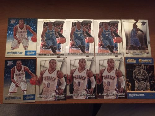 Russell Westbrook 10ct. Lot Panini Prizm  Contenders, Absolute. Thunder. MVP!!