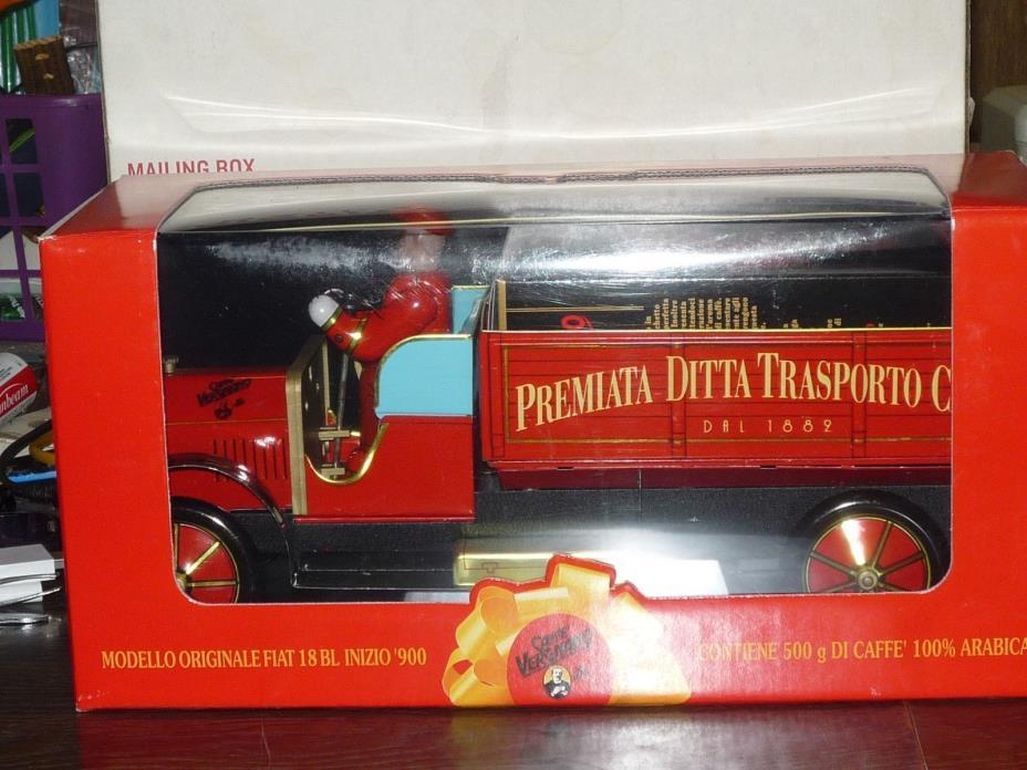 Caffe Vergnano COFFEE & Transporto Metal Fiat 18BL Inizio 900 Truck SEALED BOX