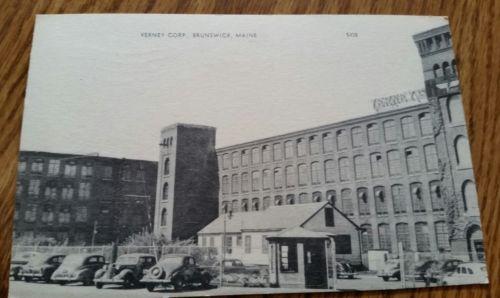 Vintage Postcard Verney Corp. Brunswick Maine 1955 Photolux