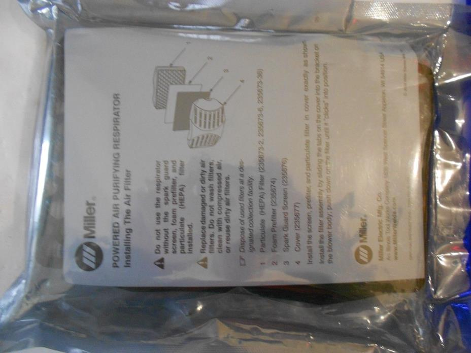 Miller Particle Filter 235673 -1, Pre-Filter 235674 -4 (PAPR Blower Assembly)