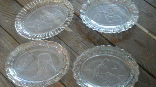 Fostoria plate set usa patriotic 71 72 73 74 Washington star spangled old glory