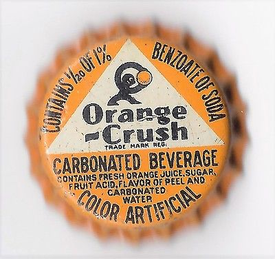 Orange Crush  Soda Bottle Cap Cork