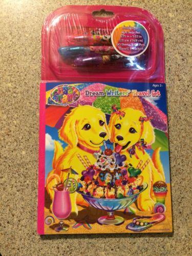 Lisa Frank DREAM WRITER'S Travel Set Case Candy Puppy & Kitty Pens Stencils NEW!