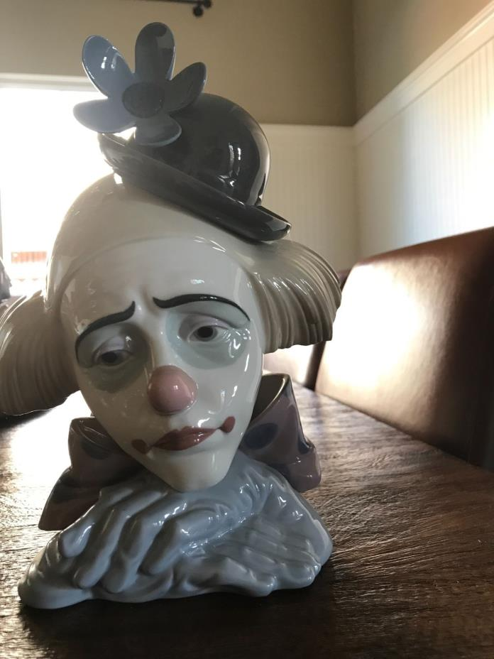 lladro clown head