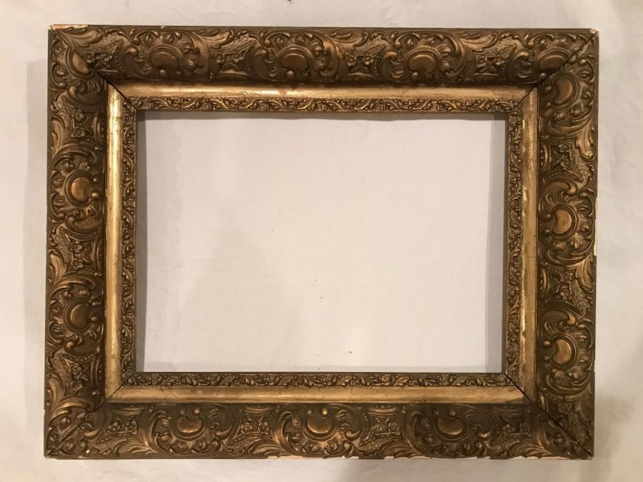 Antique 14x10 Gold Gilded Picture Frame c 1920s