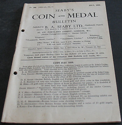 Antique - Seaby's Coin And Medal Bulletin July 1950 Scarce!