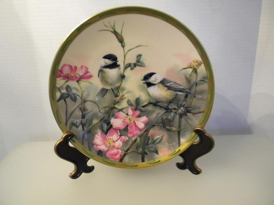 PLATE LENOX FINE IVORY CHINE '' ROSE MORNING '' FROM THE NATURE'S COLLAGE PLATE