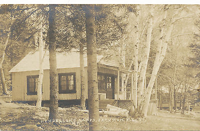 RPPC Sepia Jackman Maine Henderson's Camp Azo Box  Unposted Clean