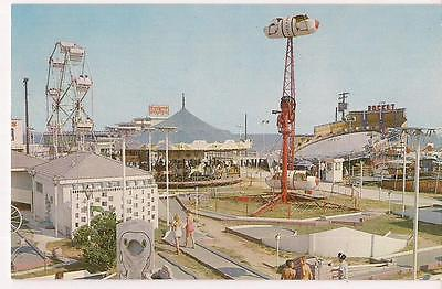 Amusement Park Rides Steel Pier Rocket CAROLINA BEACH NC Ferris Wheel Postcard