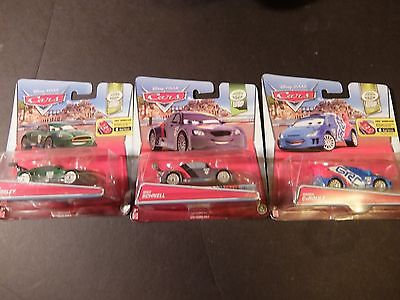 Lot of 3 DISNEY PIXAR CARS - Nigel Gearsley Raoul Caroule and Max Schnell