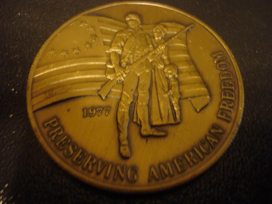 Honoring The American Veteran Preserving our Freedom 1977 Token Medal