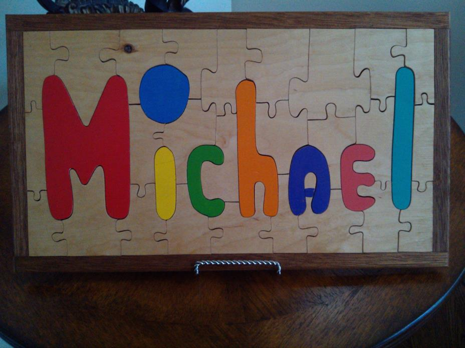 Personalized Wood Puzzle Michael