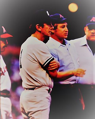 Vintage Baseball 8 x 10 Print New York Yankee Great Manager Billy Martin