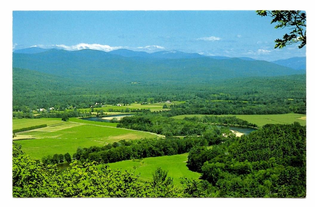Saco RIver Fryeburg Maine Postcard White Mountains Fields Corn Potatoes Beans