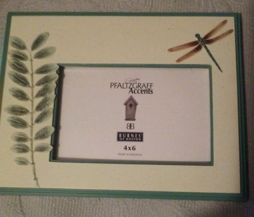Pfaltzgraff Naturewood Dragonfly Picture Frames New in box 1999.  Set of 2