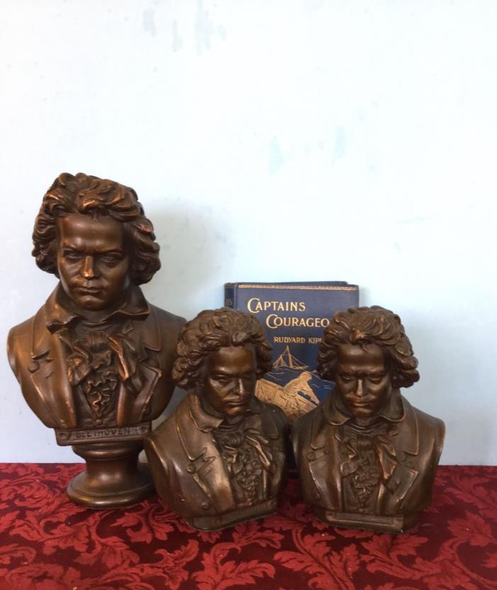 vintage Armor Bronze bust, bronze clad, Beethoven, circa 1920s , 11-1/2